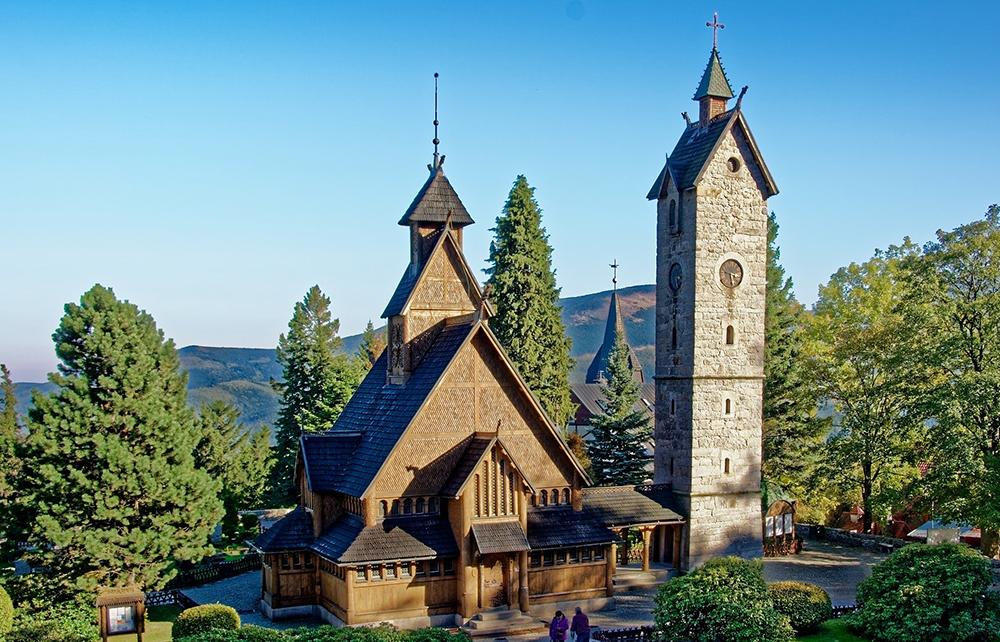 Karpacz – browar Sowiduch i Kościół Wang